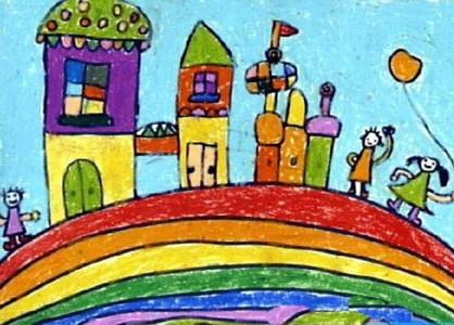 彩虹上盖房子