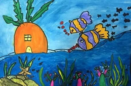 大班优秀海底世界主题儿童画
