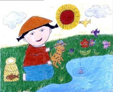 数字油画-钓鱼