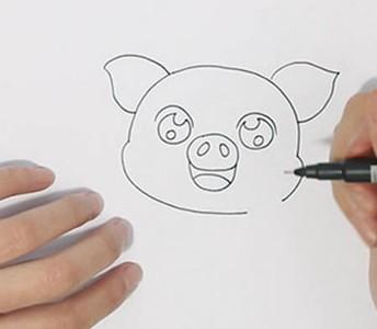 可爱卡通小猪简笔画