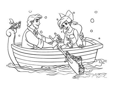 王子和公主划船简笔画