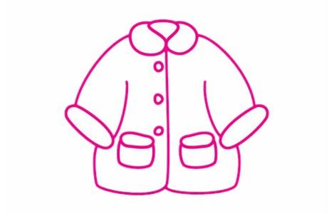 大衣简笔画的画法步骤教程及图片大全
