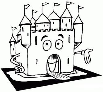 卡通城堡简笔画图片