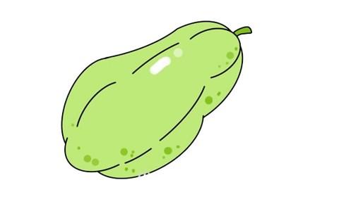香瓜简笔画步骤画法图片