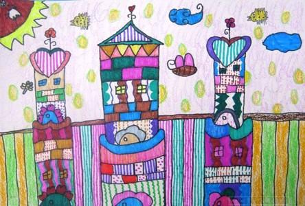 蜡笔画-公主的城堡