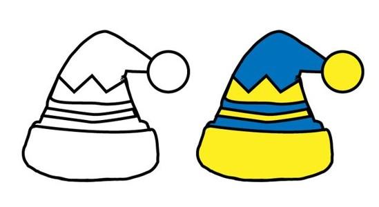 8款不同的帽子简笔画图片素材大全