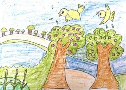 秋天儿童画丰收的季节