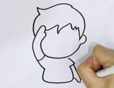 少先队员敬礼简笔画怎么画简单又漂亮