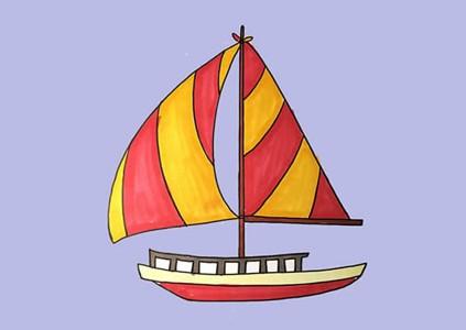 漂亮帆船怎么画简笔画简单好看