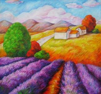 数字油画-秋天的童话