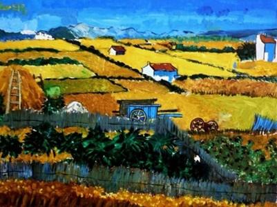 数字油画-美丽的乡村