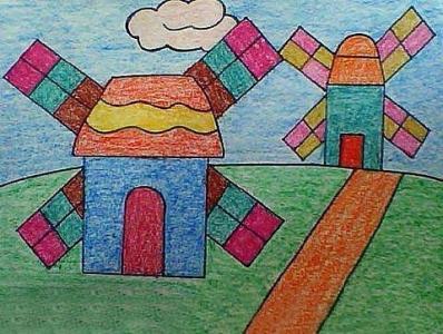大风车儿童画-大全风车的故事