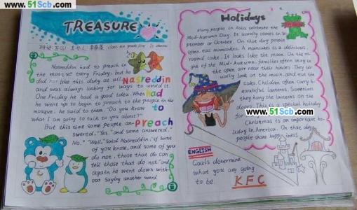 五年级英语手抄报作品欣赏
