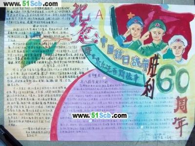 纪念中国抗日战争胜利手抄报图片
