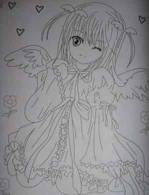 美丽的天使儿童画-美丽的天使