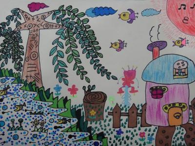 春夏秋冬儿童画-春天真美