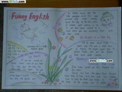 英语手抄报设计图_FunnyEnglish