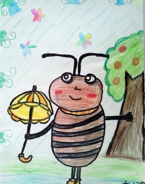 小蜜蜂打伞
