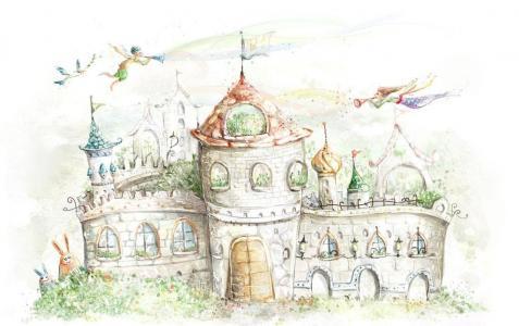 儿童画城堡图片大全-精灵城堡