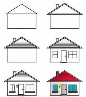 简笔画小房子画法