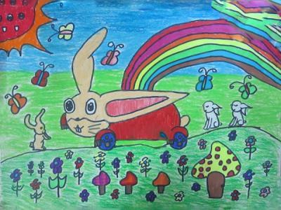 快乐的小兔子汽车