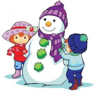 儿童画堆雪人-我和小伙伴堆雪人