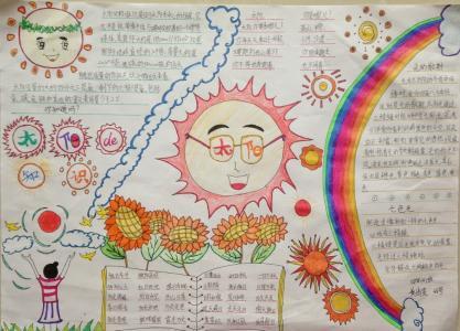 关于太阳的手抄报内容