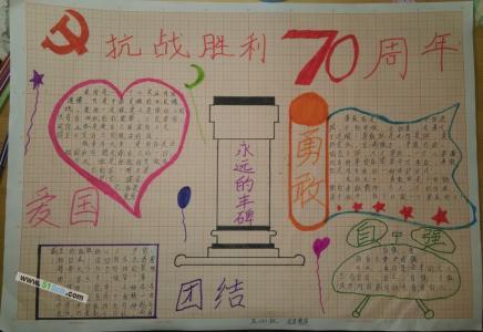 抗战胜利70周年手抄报图片大全
