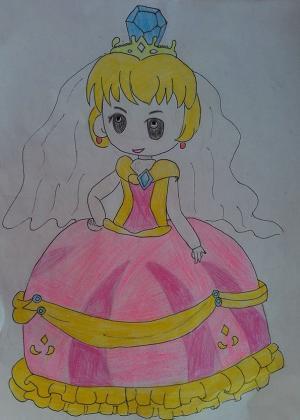 美丽的天使儿童画-像天使一样的妈妈