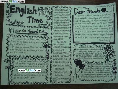 关于英语节的手抄报_EnglishTime
