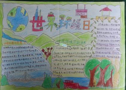 世界环境日手抄报资料、内容、图片
