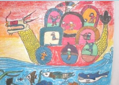 向祖国问好,图片,儿童画教程-学笔画