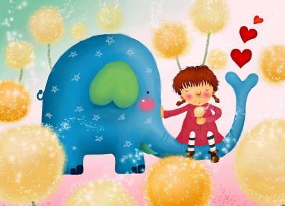 大象和小女孩