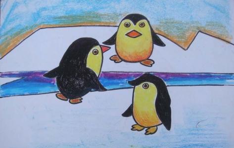 企鹅三口之家