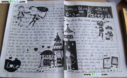 四年级英语手抄报作品