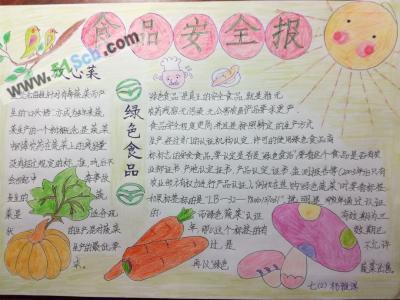 食品安全手抄报高中简单作品