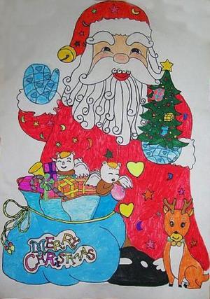 幸福的圣诞老人