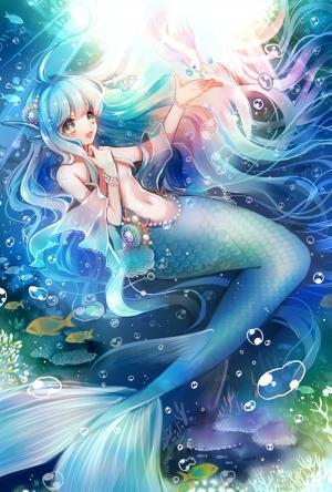 美人鱼儿童画-海的女儿美人鱼