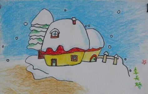 雪中的房屋