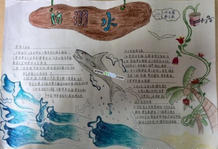 防溺水手抄报设计图2例
