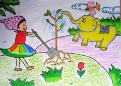 我来种树大象浇水