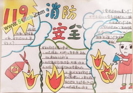 119消防安全手抄报图片、内容资料