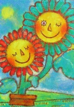 两颗向日葵