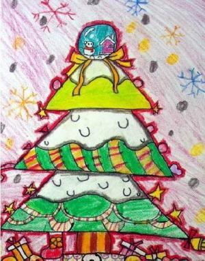 七彩的圣诞树