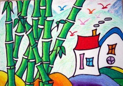 孔雀,图片,儿童画教程-学笔画