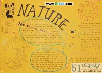 米黄色英语手抄报:NATURE