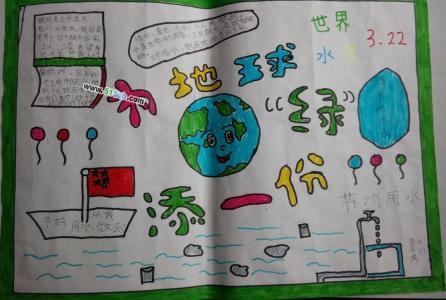 六年级为地球添一份绿手抄报